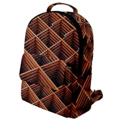 Metal Grid Framework Creates An Abstract Flap Pocket Backpack (small) by Jojostore