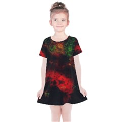Background Art Abstract Watercolor Kids  Simple Cotton Dress