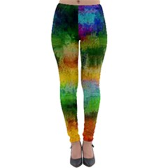 Pattern Texture Background Color Lightweight Velour Leggings