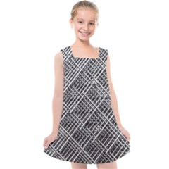 Grid Wire Mesh Stainless Rods Rods Raster Kids  Cross Back Dress