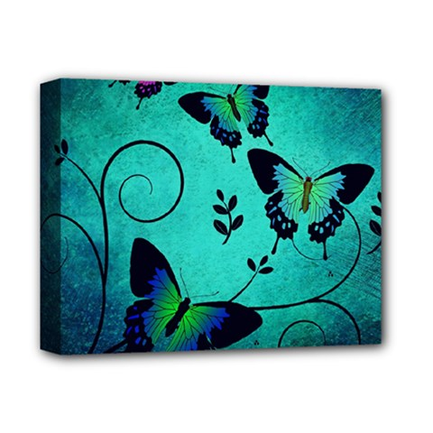 Texture Butterflies Background Deluxe Canvas 14  X 11  (stretched)