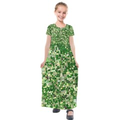 Crop Rotation Kansas Kids  Short Sleeve Maxi Dress