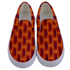 Fractal Multicolored Background Kids  Canvas Slip Ons