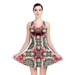 Flowers Fabric Reversible Skater Dress