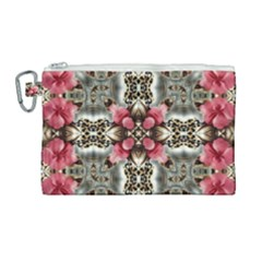 Flowers Fabric Canvas Cosmetic Bag (large)