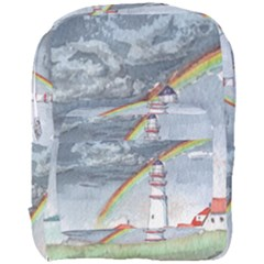 Watercolour Lighthouse Rainbow Full Print Backpack by Jojostore