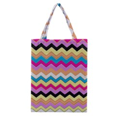 Chevrons Pattern Art Background Classic Tote Bag