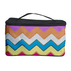 Chevrons Pattern Art Background Cosmetic Storage