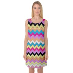 Chevrons Pattern Art Background Sleeveless Satin Nightdress