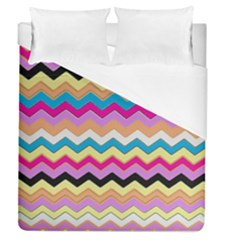 Chevrons Pattern Art Background Duvet Cover (queen Size) by Jojostore