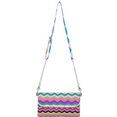 Chevrons Pattern Art Background Mini Crossbody Handbag by Jojostore