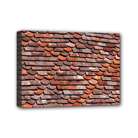 Roof Tiles On A Country House Mini Canvas 7  X 5  (stretched) by Jojostore