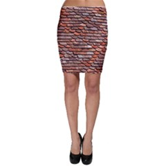 Roof Tiles On A Country House Bodycon Skirt by Jojostore