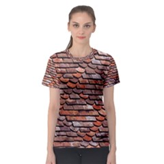Roof Tiles On A Country House Women s Sport Mesh Tee by Jojostore