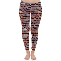 Roof Tiles On A Country House Classic Winter Leggings by Jojostore