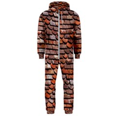 Roof Tiles On A Country House Hooded Jumpsuit (men)  by Jojostore