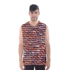 Roof Tiles On A Country House Men s Basketball Tank Top