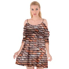 Roof Tiles On A Country House Cutout Spaghetti Strap Chiffon Dress by Jojostore