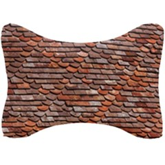 Roof Tiles On A Country House Seat Head Rest Cushion by Jojostore