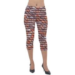 Roof Tiles On A Country House Lightweight Velour Capri Leggings