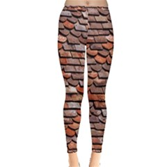 Roof Tiles On A Country House Inside Out Leggings by Jojostore