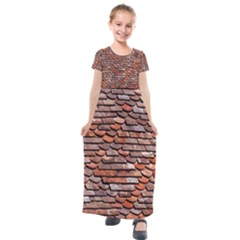 Roof Tiles On A Country House Kids  Short Sleeve Maxi Dress by Jojostore