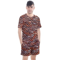 Roof Tiles On A Country House Men s Mesh Tee And Shorts Set by Jojostore