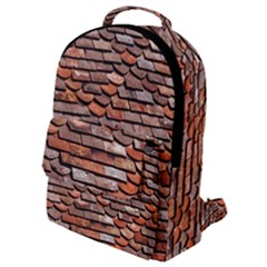 Roof Tiles On A Country House Flap Pocket Backpack (small) by Jojostore