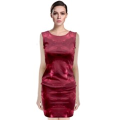 Red Puddle Diamonds Sleeveless Velvet Midi Dress