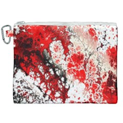 Red Fractal Art Canvas Cosmetic Bag (xxl) by Jojostore
