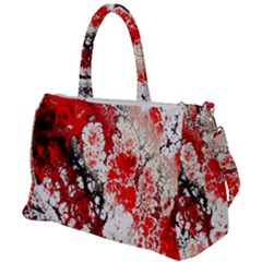 Red Fractal Art Duffel Travel Bag by Jojostore