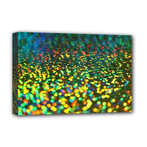 Construction Paper Iridescent Deluxe Canvas 18  X 12  (stretched) by Jojostore