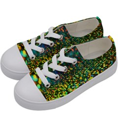 Construction Paper Iridescent Kids  Low Top Canvas Sneakers by Jojostore