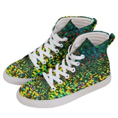 Construction Paper Iridescent Men s Hi Top Skate Sneakers by Jojostore