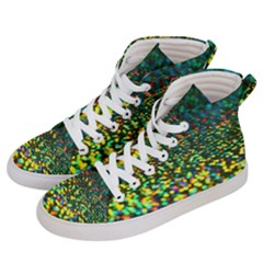 Construction Paper Iridescent Women s Hi Top Skate Sneakers by Jojostore