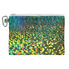 Construction Paper Iridescent Canvas Cosmetic Bag (xl)