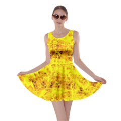 Yellow Abstract Background Skater Dress