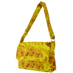 Yellow Abstract Background Full Print Messenger Bag