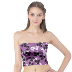 Floral Pattern Background Tube Top by Jojostore