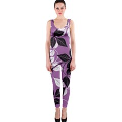 Floral Pattern Background One Piece Catsuit