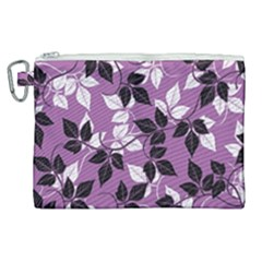 Floral Pattern Background Canvas Cosmetic Bag (xl) by Jojostore