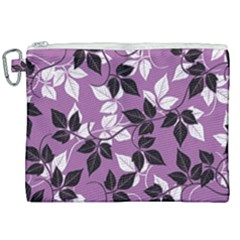 Floral Pattern Background Canvas Cosmetic Bag (xxl) by Jojostore