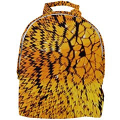 Yellow Chevron Zigzag Pattern Mini Full Print Backpack by Jojostore
