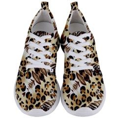 Background Fabric Animal Motifs And Flowers Men s Lightweight Sports Shoes