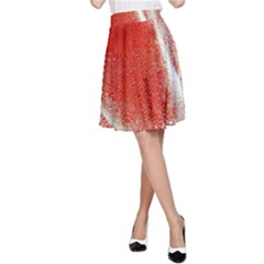 Red Pepper And Bubbles A Line Skirt by Jojostore