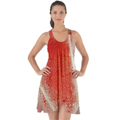 Red Pepper And Bubbles Show Some Back Chiffon Dress