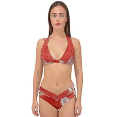 Red Pepper And Bubbles Double Strap Halter Bikini Set