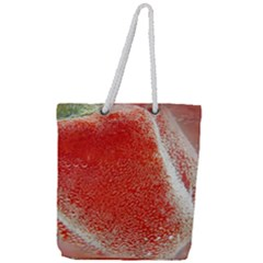 Red Pepper And Bubbles Full Print Rope Handle Tote (large) by Jojostore
