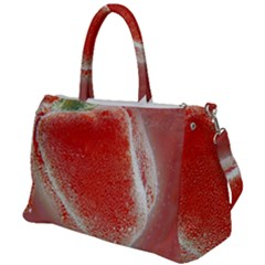 Red Pepper And Bubbles Duffel Travel Bag by Jojostore