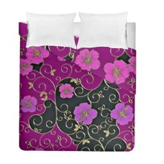 Floral Pattern Background Duvet Cover Double Side (full/ Double Size) by Jojostore
